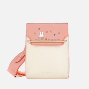 Strathberry X Miffy Women's Flower North/South Stylist Cross Body Bag - Rose/Vanilla