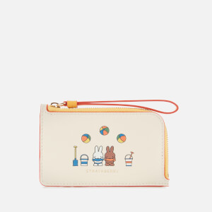 Strathberry X Miffy Women's Beach Zipped Cardholder - Vanilla/Blossom Yellow