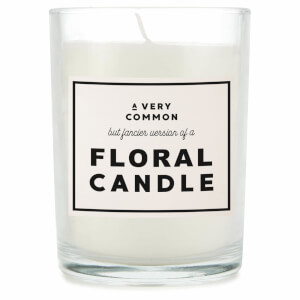 A Very Common But Fancier Version Of A Floral Candle Candle