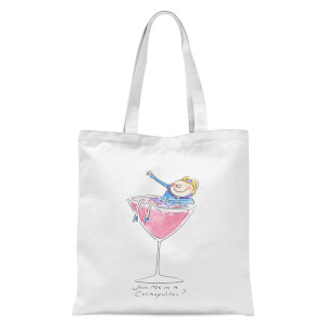 Join Me In A Cosmopolitan? Tote Bag - White
