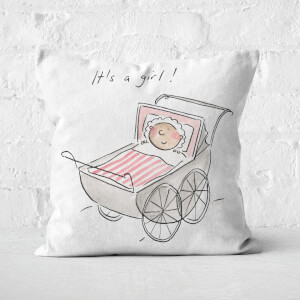 It's A Girl! Square Cushion