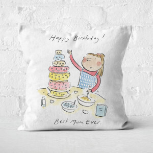 Happy Birthday Best Mum Ever Square Cushion
