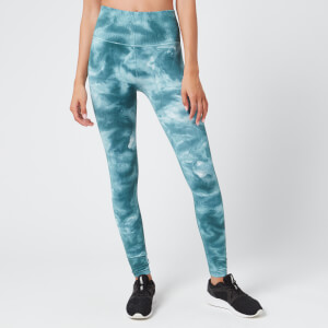 Free People Women's Movement Good Karma Tie Dye Leggings - Blue/Green