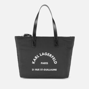 Karl Lagerfeld Women's Rue ST Guillaume Nylon Tote Bag - Black