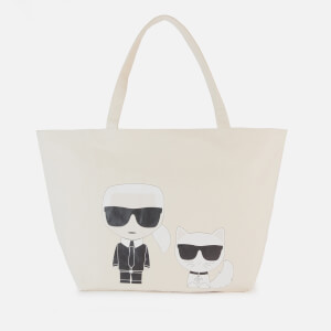 Karl Lagerfeld Women's K/Ikonik Karl and Choupette Tote Bag - Natural