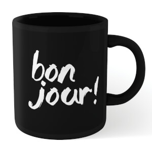 The Motivated Type Bonjour! Mug - Black