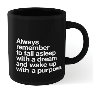 The Motivated Type Fall Asleep With A Dream Mug - Black