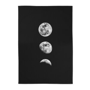The Motivated Type 3 Moon Series Cotton Tea Towel - Black