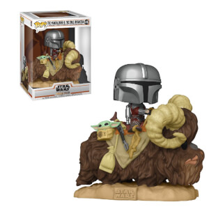 Star Wars: The Mandalorian- Mandalorian on Bantha with Child Funko Pop! Vinyl
