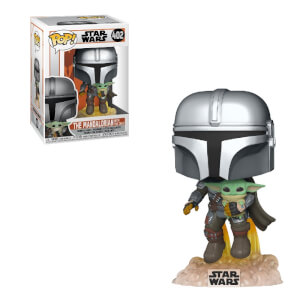 Star Wars The Mandalorian Mandalorian Flying con Jet Funko Pop! Vinyl