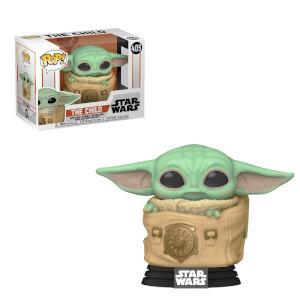 Star Wars The Mandalorian The Child (Baby Yoda) mit Tasche Funko Pop! Vinyl Figur