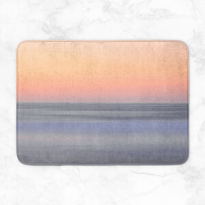 Sunset Orange Blue Bath Mat