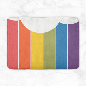 Rainbow Cloud Bath Mat