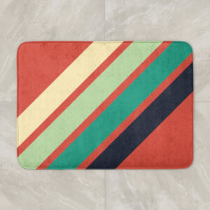 Green Retro Stripe Bath Mat