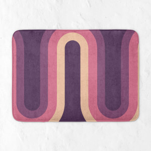 Purple Groove Bath Mat
