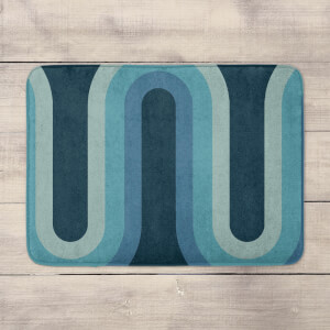 Blue Groove Bath Mat
