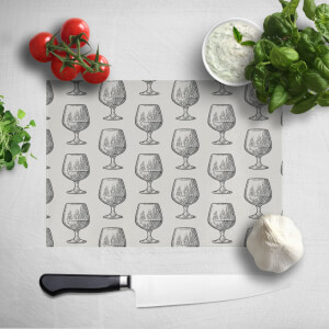 Whisky Glass Pattern Chopping Board