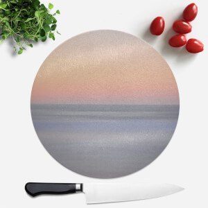 Sunset Orange Blue Round Chopping Board