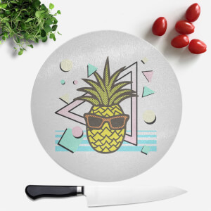 Summer Pineapple Round Chopping Board