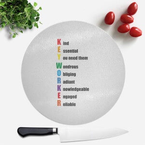Key Worker Defined Round Chopping Board