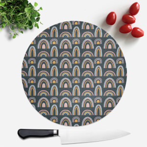 Rainbow Moody Round Chopping Board