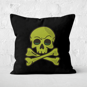 Skater Skull Square Cushion