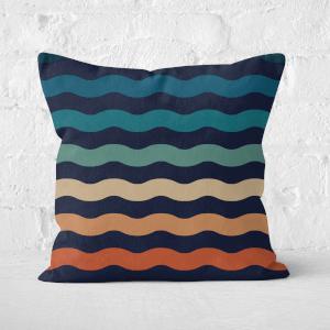 Rainbow Wave Square Cushion