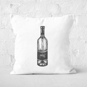 Wine Bottle Square Cushion