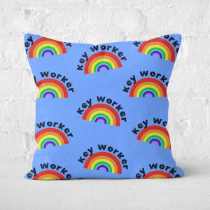 Key Worker Rainbow Square Cushion