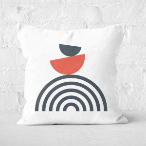 Rainbow Balancing Act Square Cushion