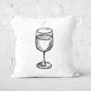 Wine Glass Square Cushion
