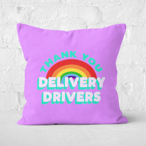 Thank You Delivery Drivers Square Cushion