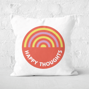 Happy Thoughts Square Cushion