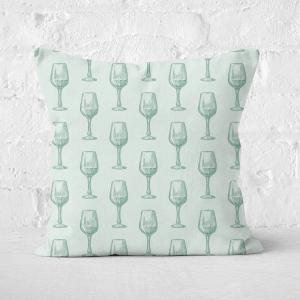 Wine Glass Pattern Square Cushion