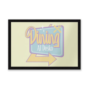 Dining Al Desko 60s Entrance Mat