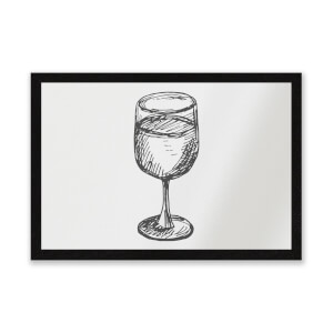 Wine Glass Entrance Mat