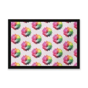 Fluro Flower Pattern Light Entrance Mat
