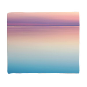 Sunset Blue And Pink Fleece Blanket