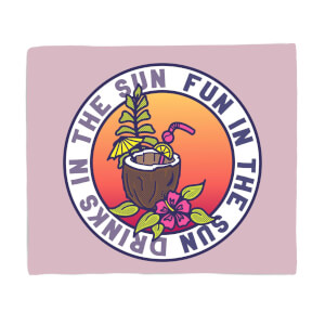 Fun In The Sun Drinks In The Sun Fleece Blanket