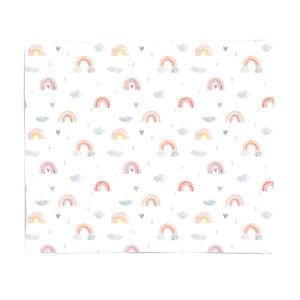 Watercolour Rainbow Pattern Fleece Blanket