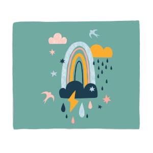 Rainbow Weather Fleece Blanket