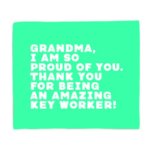 Grandma, I Am So Proud Of You. Fleece Blanket