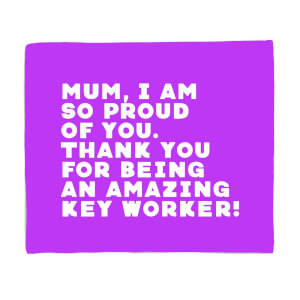 Mum, I Am So Proud Of You. Fleece Blanket