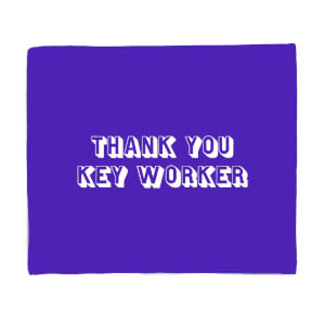 Thank You Key Worker Fleece Blanket