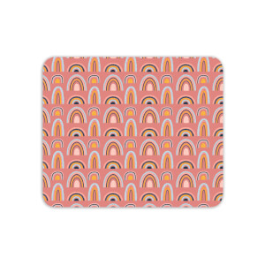 Rainbow Pink Mouse Mat