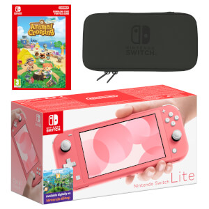 Nintendo Switch Lite (Coral) Animal Crossing: New Horizons - Digital Download Pack