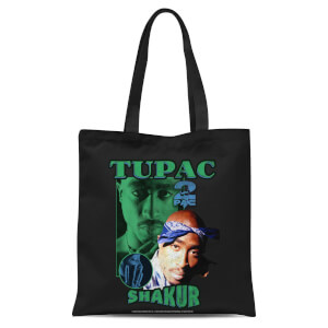 Tupac Shakur Tote Bag - Black