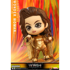 Mini Figurine Cosbaby Wonder Woman Armure Dorée Wonder Woman 1984 10cm - Hot Toys