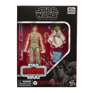 Figuras Luke Skywalker y Yoda (Entrenamiento Jedi) - Star Wars The Black Series