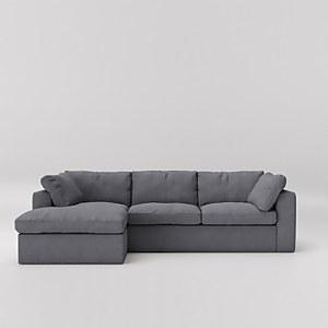 Swoon Seattle Smart Wool Corner Sofa - Left Hand Side